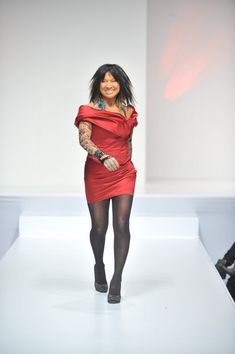 Buffy Sainte-Marie walking the runway at age 70
