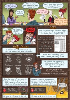 Dungeon Diaries :: Skills and Ability scores! | Tapastic Comics - image 1