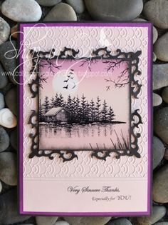 Calligraphy Cards - Shaz in Oz: Stampscapes ~ More Lakes for Finland!