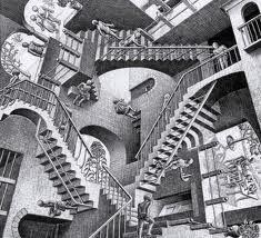 mc escher obras - Buscar con Google. Maurits Cornelis Escher, Mas Conocido Como MC Escher FUE UN artista Holandés Conocido Por suspensión Grabados en madera, xilografías y Litografías Que tratan Sobre Figuras imposibles, teselados y mundos imaginarios