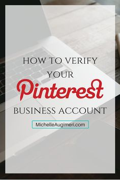 How to verify your Pinterest for business account ~ Click here to see where to place the code Pinterest gives you to verify your website when you switch to a business account
