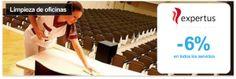 Servicio integral de limpieza de oficinas con Expertus Multiservicios. - descuento 6% en todos los servicios