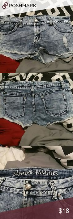 Almost famous size 13 shorts Like new worn twice too big almost famous size 13 Almost Famous Shorts Jean Shorts