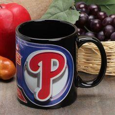 Philadelphia Phillies 11oz. Sublimated Coffee Mug - Black