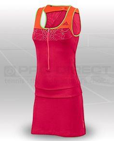... adiZero Dress - Womens Tennis Clothing - Fresh Pink-Fresh Orange