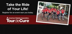 Tour de Cure - American Diabetes Association annual bike ride to raise to Stop Diabetes and improve the lives of those affected by diabetes.