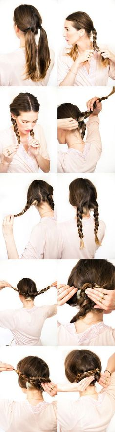 DIY wedding hair: Pretzel braid Tutorial