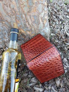 Classic alligator crocodile men's wallet Crocodile, Flask, Wallet, Classic, Leather, Derby, Crocodiles, Classic Books, Purses