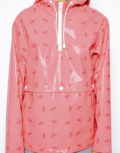 ASOS | ASOS Rain Cagoule In Umbrella Print at ASOS