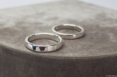 Thick Sterling Silver Ring - 925 Solid Sterling Silver Band - Stackable ring  jewelry - Available smooth or hammered faceted women's jewelry