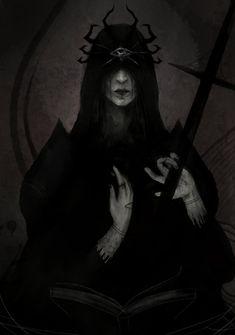 La Galería Popurrí — Priestess of the Spider by Dark Fantasy Art, Arte Horror, Horror Art, Character Inspiration, Character Art, Dark Witch, Beautiful Dark Art, Arte Obscura, Scary Art