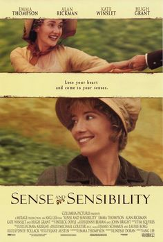 Another Jane Austen book inspired movie you need to watch. If you love Emma Thompson, Kate Winslet, Hugh Grant, and Alan Rickman, this film is for you Love Movie, Movie Tv, Movie Cast, Ang Lee, Hugh Grant, Films Cinema, Bon Film, Emma Thompson, Movie Posters