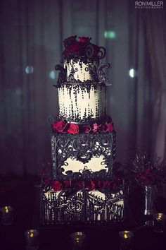 Gothic cake, i would switch the colours around A bit though