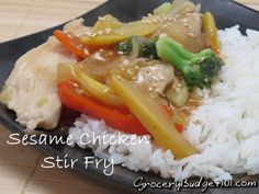 Sesame Chicken is one of our favorite dishes, but in an effort to make it just a touch healthier, we opted to turn this into a stir-fry dish! This simple throw together is ready in about 20 minutes and uses whatever fresh or frozen veggies that you happen to have on hand. (Click on photo for recipe)