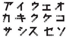 とあるフォントのアイデアが素晴らしいのでご紹介します。 日本を旅行した時に、読み方に苦労した海外の方が制作したフォント「phonetikana」。 そのカタカナの「読み方」が、フォント自体に描かれてい