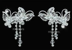 2 pcs x #bridal #bridesmaid #jewellery prom accessories butterfly hair clips t148,  View more on the LINK: 	http://www.zeppy.io/product/gb/2/121576180709/