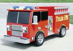 19-w2616 - Fire Truck Toy Box Woodworking Plan - Woodworkersworkshop® Online…