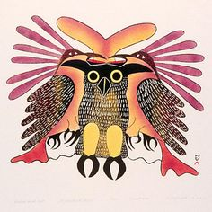 Ravens and Owl, by Kenojuak Ashevak, 1979