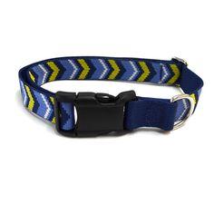 Waggo Chevron Dog Collar Pattern Dog Collar   Waggo
