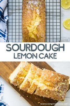 Glazed Sourdough Lemon Cake This is one the MOST delicious ways. to use discard sourdough starter. A sweet, tender cake that's perfect for breakfast or a snack, this sourdough lemon cake is topped with a fresh lemon glaze. Sourdough Starter Discard Recipe, Sourdough Recipes, Sourdough Bread, Lemon Glaze Cake, Lemon Glaze Recipe, Cake Recipes, Dessert Recipes, Appetizer Recipes, Sweet Recipes
