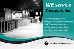 Almost half of the #bacteria found in New York City's subway system were from #unknown species. https://plus.google.com/+WeserviceBiz/posts/Cqo6D6xQkn1