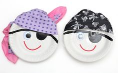 Paper Plate Pirates - Click on image to see step-by-step tutorial.