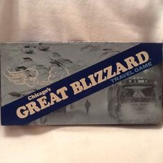 Chicago's Great Blizzard Travel Game Board Game 77 - 78 Vintage Rare