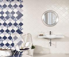 arabesque tile patchwork wall blue 1 21 Arabesque Tile Ideas for Floor, Wall and Backsplash