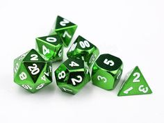 ✨✨✨All Dice , Buy 3 Get 1 FREE✨✨✨  https://www.etsy.com/listing/556983028/buy-3-dice-set-get-1-free?ref=shop_home_active_1  💙💙 *****************^_^***************💙💙  GREEN Heavy Metal Dice Set-DnD Dice set-Metallic Dice for DnD RPG Dungeons and Dragons-Solid Heavy Gaming Dice-Shiny