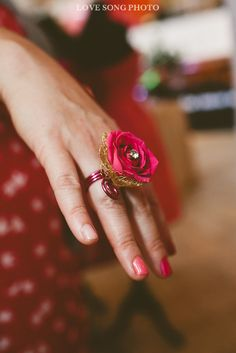 Fresh Flower Ring by Paisley Petals Photo by: Love Song Photo