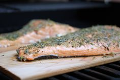 Cedar Plank Grilled Salmon with Horseradish Chive Sauce | WeeklyGreens.com