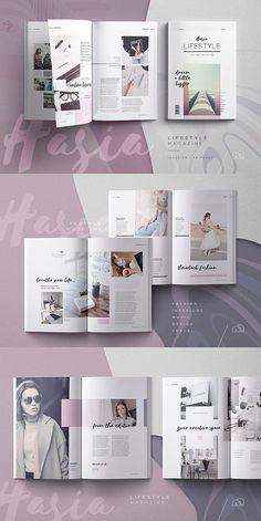 Hasia – Lifestyle Magazine Hasia / InDesign Lifestyle Magazine Template This image has get Collage Magazine, Magazine Ideas, Book And Magazine, Cereal Magazine, Magazine Online, Car Magazine, Business Magazine, Time Magazine, Graphic Design Magazine