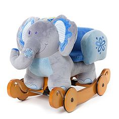 Labebe Christmas Gift for Baby Lovely Plush Toys Rocking Elephant with Safe Back & Wheels- Blue [Baby Product] Labebe http://www.amazon.com/dp/B00DWZ03H0/ref=cm_sw_r_pi_dp_2G4ywb0S2ABAT