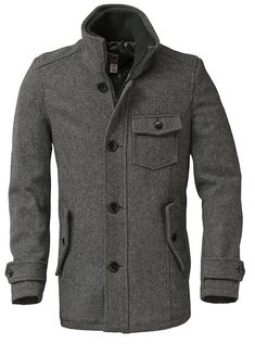 Schott Wool Car Coat $300.00. This would look so handsome on Justin...