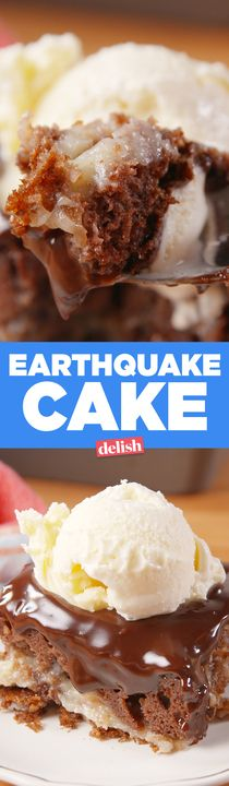 SOS, this Earthquake Cake is seriously dangerous. Get the recipe from Delish.com.
