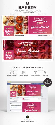 Creative Trendy Facebook Timeline Covers For Cake Cupcake Bakery