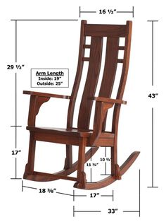 rocking chair measurements - Google Search