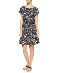 Eley Hawaiian Floral-Print Popover Dress by Joie at Neiman Marcus.