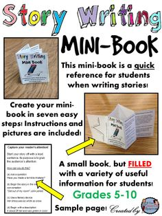 This little resource includes all of the tips and tricks that students will need to refer to when writing an essay.  I really loved making my own mini book this is another way of improving writing