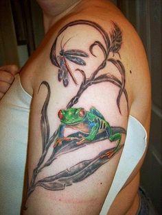 Los 10 Mejores tatuajes con significado Wicked Tattoos, Mom Tattoos, Sleeve Tattoos, Tatoos, Crazy Tattoos, Tattoo Designs And Meanings, Tattoo Designs For Women, Tree Frog Tattoos, Amazing Frog