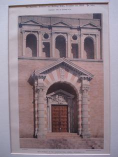 Main Entrance of the Congregational Church , Providence, RI, 1895, Carrere & Hastings