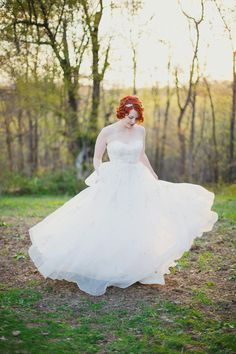Taking a look back at this wedding featured on #SMP in August - and loving this bride! Take a closer look here: http://www.stylemepretty.com/little-black-book-blog/2013/08/13/backyard-pennsylvania-wedding-from-closer-to-love-photography/ Closer to Love Photography