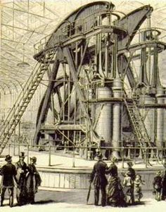 Industrial Revolution in 1776 was the year where everything changed, and it all started with the steam engine. Victorian Design, Victorian Era, Victorian Steampunk, Steampunk Machines, Power Of Social Media, Industrial Architecture, Expositions, Steam Engine, Retro Futurism