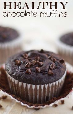 Healthy Chocolate Muffins (under 100 calories each)