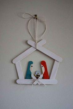 craft stick crafts for kids christmas Nativity Crafts, Christmas Nativity, Christmas Crafts For Kids, Diy Christmas Ornaments, Homemade Christmas, Craft Stick Crafts, Christmas Projects, Holiday Crafts, Christmas Holidays