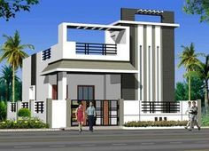 ABHomes Hyderabad Real Estate Developers - Her Crochet House Front Wall Design, Single Floor House Design, Bungalow House Design, Small House Design, Modern House Design, Building Elevation, House Elevation, Elevation Plan, Hyderabad