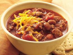 Slow Cooker Family-Favorite Chili    I made this for the family one and it was a huge success-- which an amazing feat since I come from a long line of picky eaters!    The only modifications I made was that I simmered for 8 hours instead of 6 and I used to two packets of slow cooker chili powder in addition to the chili beans.    www.bettycrocker.com   Look up: family favorite chili