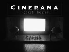CINERAMA - Pocket Theater by John Michael Wilyat — Kickstarter.  Enjoy a trip to the movies wherever you are! The Cinerama is a smartphone stand that provides silver screen ambiance.