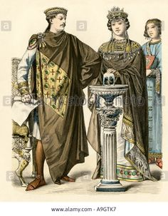 Emperor Justinian With Empress Theodora Of The Eastern Roman ...