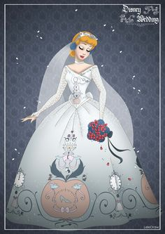 Cinderella - Disney Princess Designer Wedding collection by Lele Draw